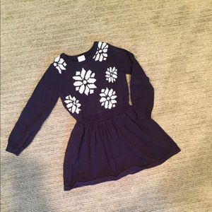 Navy blue and snowflakes Gymboree dress